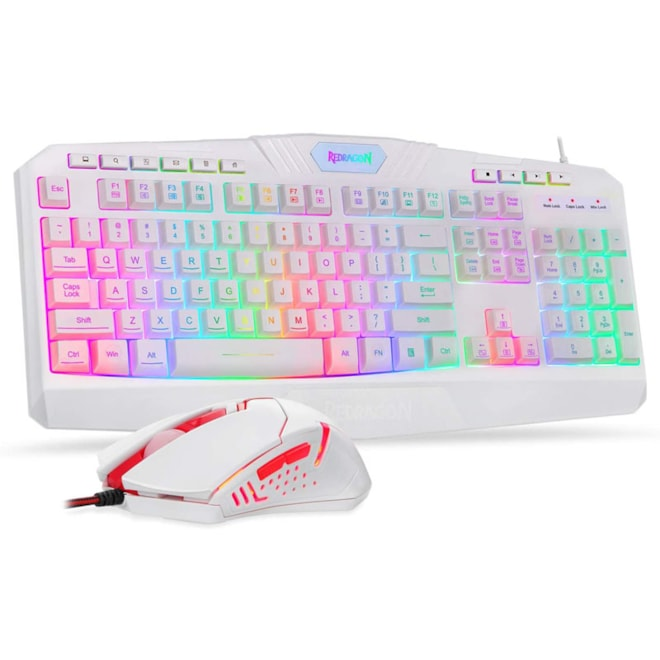 Redragon Wired Gaming Keyboard and Mouse Combo, LED RGB Backlit