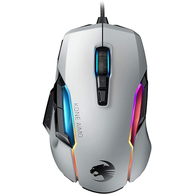 Gaming Mouse (High Precision, Optical Owl-Eye Sensor (100 to 16.000 DPI), RGB Aimo LED Illumination,