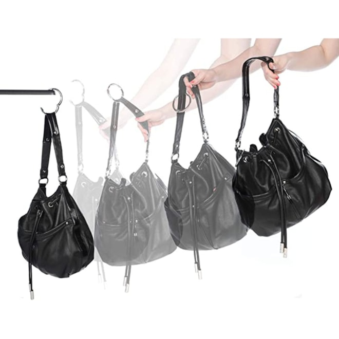 Clipa 2 Bag Hanger, Polished Silver