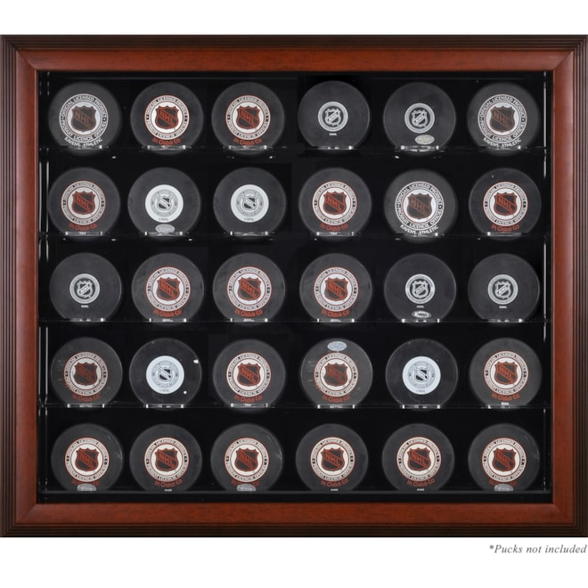 Mahogany 30 Puck Display Case