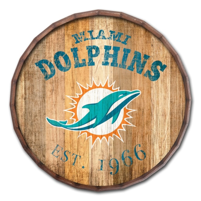 Barrel Top Dolphins Sign