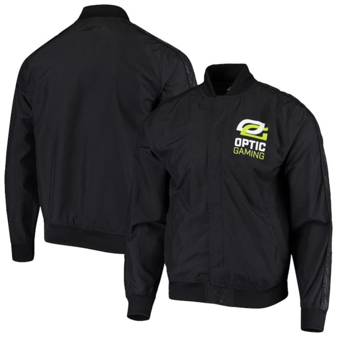 OpTic Gaming Los Angeles Authentic Full-Snap Jacket - Black