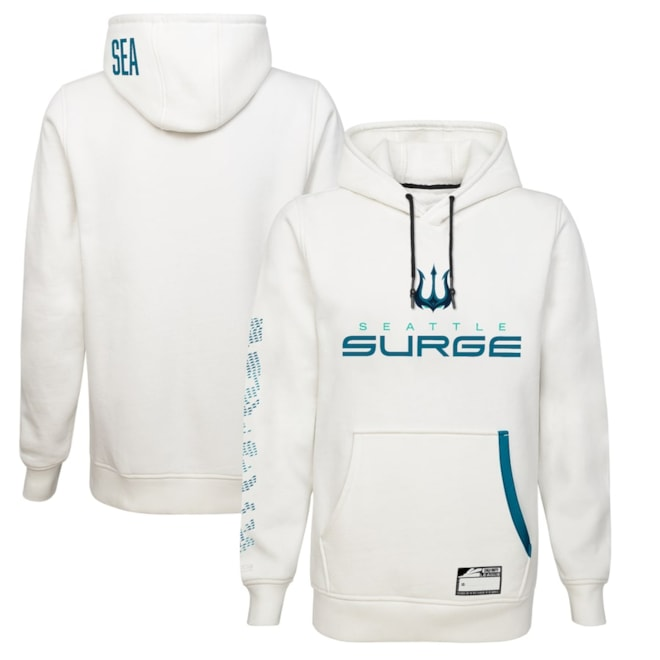 Seattle Surge Primary Authentic Player Pullover Hoodie - White