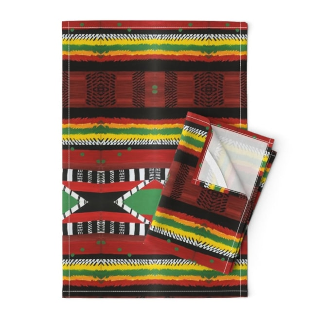 Afrocentric Tea Towels Set