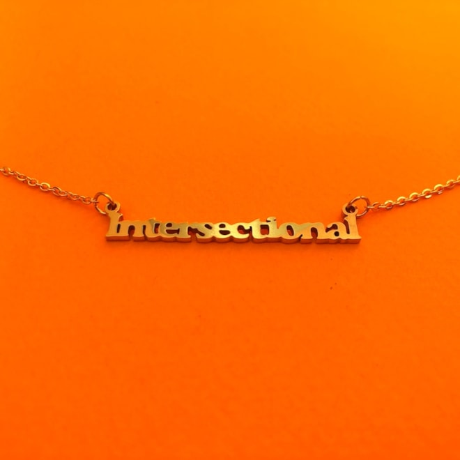 Intersectional Feminism Nameplate Necklace
