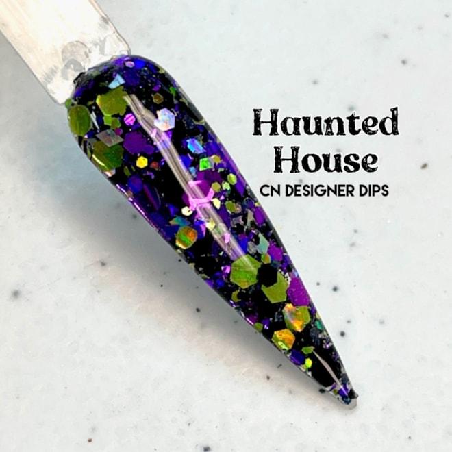 Haunted House dip powder nails | Etsy