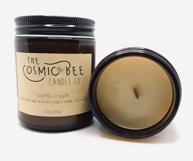 100% Natural Wooden Wick Beeswax Blend Candle
