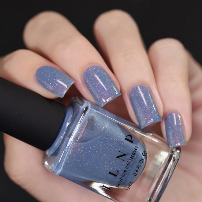 Dusk To Dawn  Dusky Blue Holographic Nail Polish | Etsy