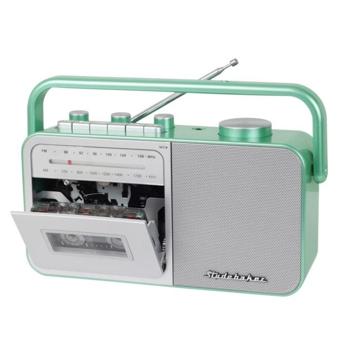 Portable AM/FM Radio & Cassette Player/Recorder