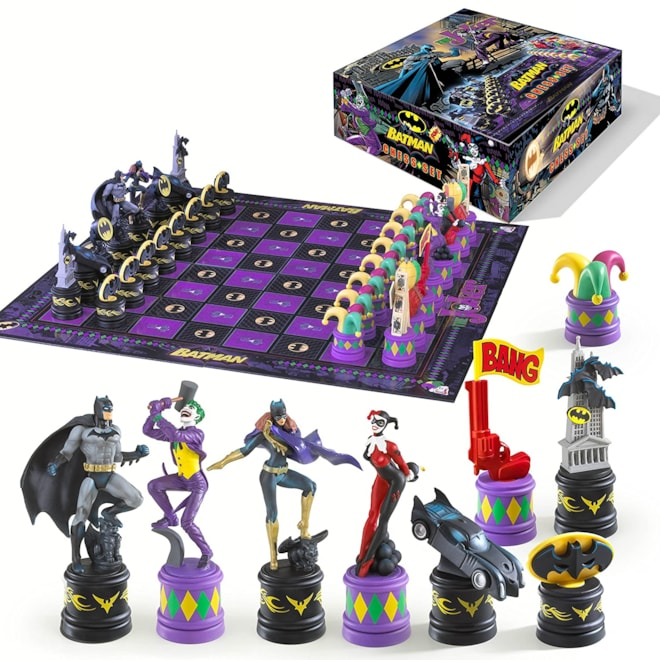 Batman Dark Knight vs The Joker Chess Set