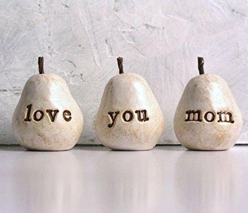 Love You Mom Clay Pear Set