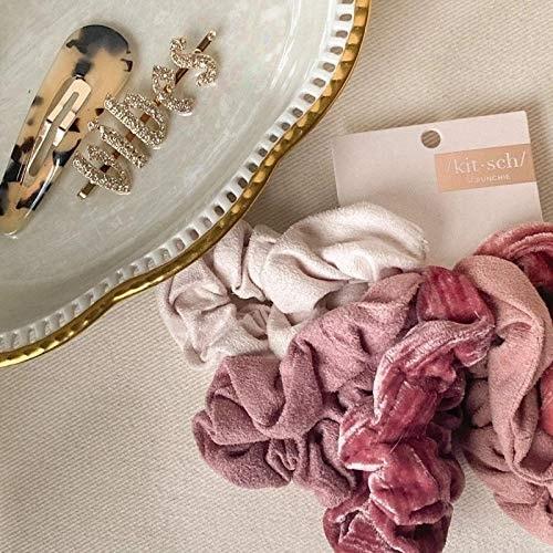Kitsch Velvet Hair Scrunchies, Cute Suede-Look Scrunchies