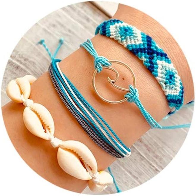 Braided Rope Bracelet Set