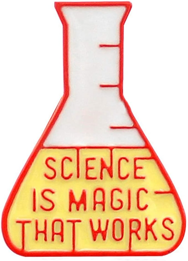 "Beaker Pin ""Science is Magic That Works"""