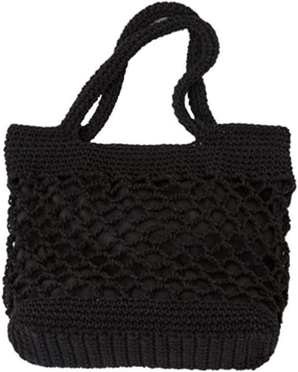 Woven Beach Bag & Purse Black