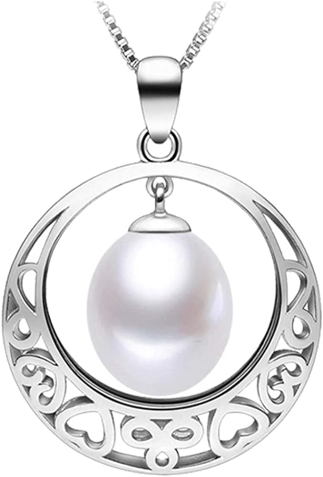 Freshwater Cultured Teardrop White Pearl Pendant Necklace