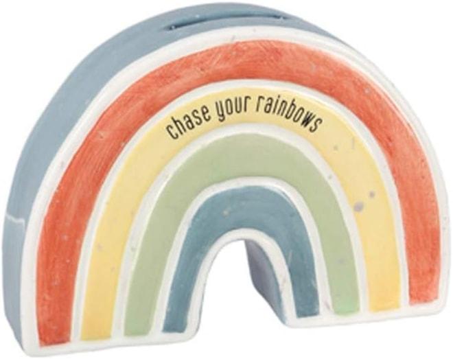 Ceramic Rainbow Coin Bank