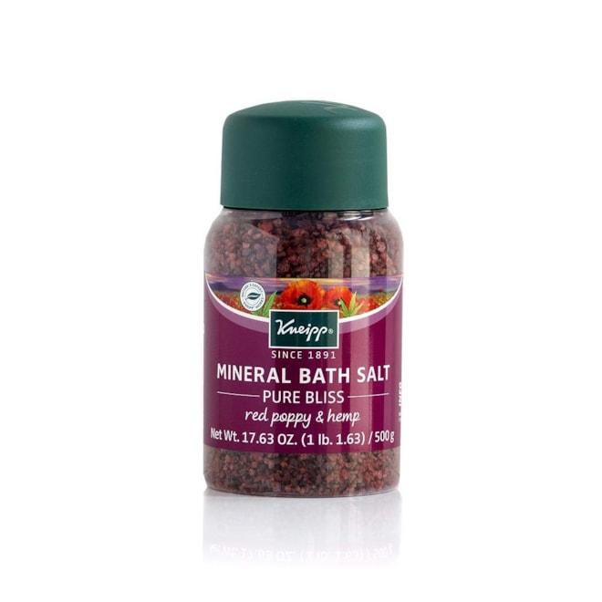 Kneipp Red Poppy & Hemp Pure Bliss Mineral Bath Salt, 17.63 Oz.