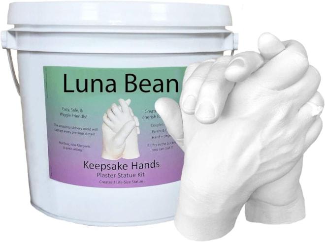 Luna Bean Keepsake Hands Plaster Molding & Casting Kit