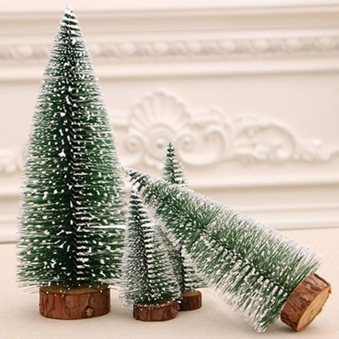 Tabletop Mini Bottle Brush Tree Set