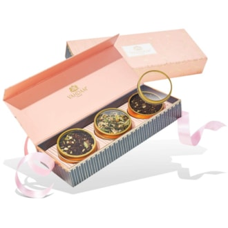 Tea Gift Set - BLUSH - 3 Holiday Teas in a Presentation Tea Sampler Gift Box  OPRAH