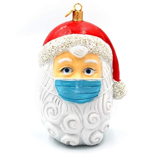 2020 Christmas Ornaments Santa With Mask