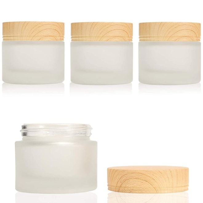 Glass Cosmetic Containers Empty Sample Jars