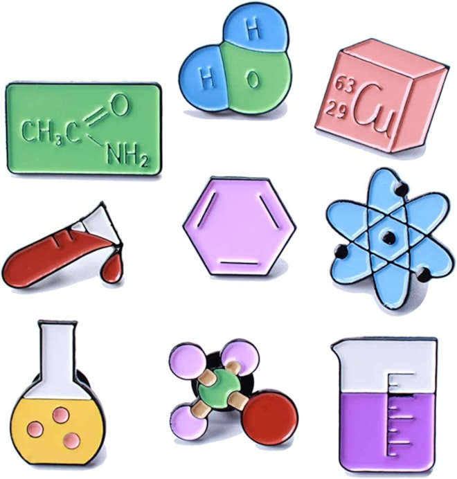 Cute Unique Enamel Pin Set -Science Themed