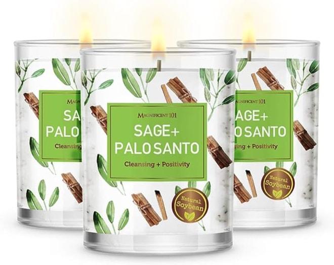 Pure Sage + Palo Santo House Energy Candle