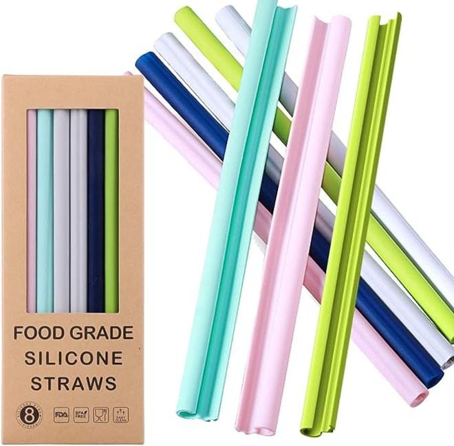 Reusable Silicone Straws-Openable Design