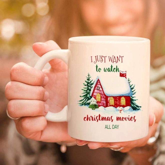 Christmas Movies All Day Mug