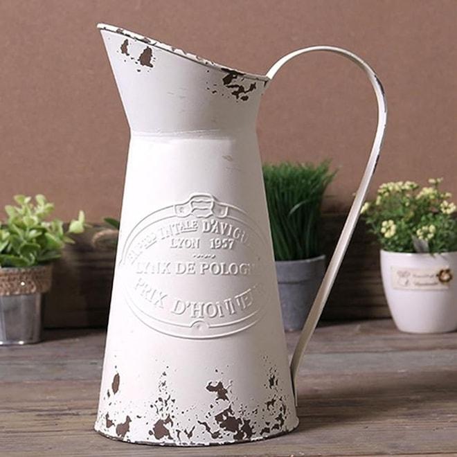 Shabby Chic Metal Vase