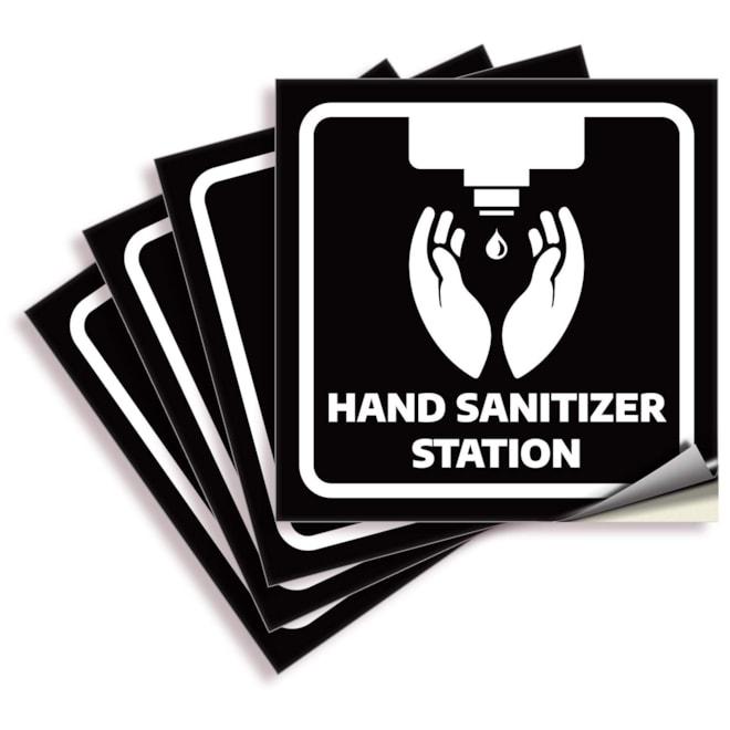 Hand Sanitizer Station Signs – 4 Pack