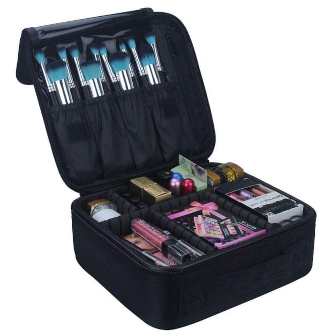 Travel Makeup Train Case Organizer