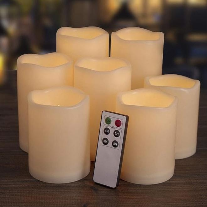 Flameless Candles Set