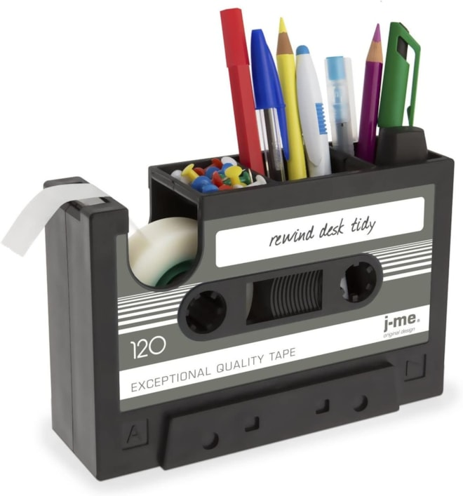 Cassette Tape Dispenser Pen Holder
