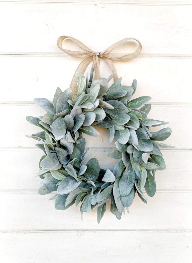 Farmhouse Lambs Ear Mini Wreath