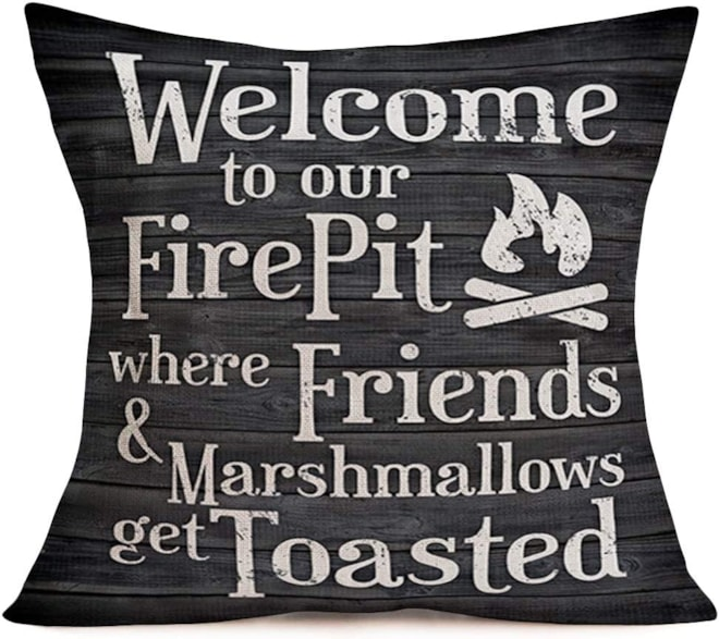 Fire Pit Pillow Cover