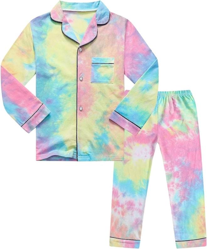 Kids Tie-dye Pajama Set