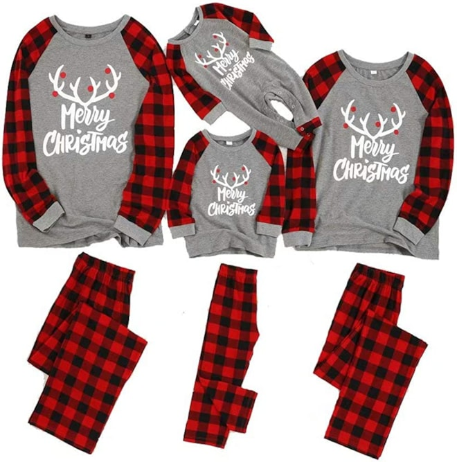 Matching Plaid Family Pajamas Set