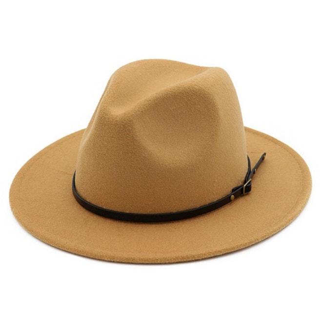 Belt Buckle Fedora Hat