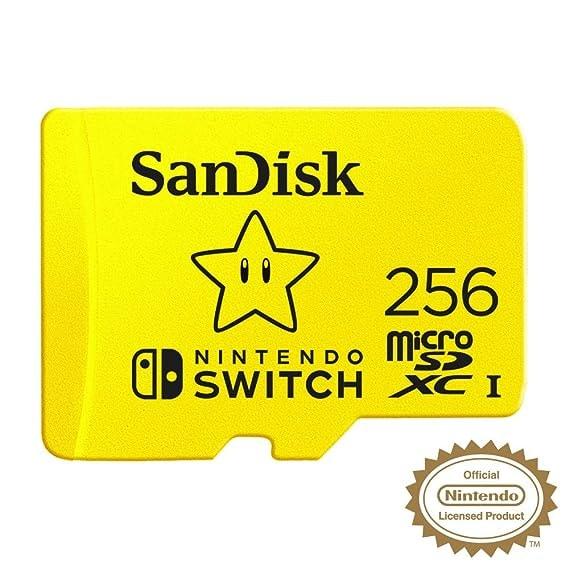 SanDisk 256GB MicroSDXC UHS-I Card for Nintendo Switch - SDSQXAO-256G-GNCZN