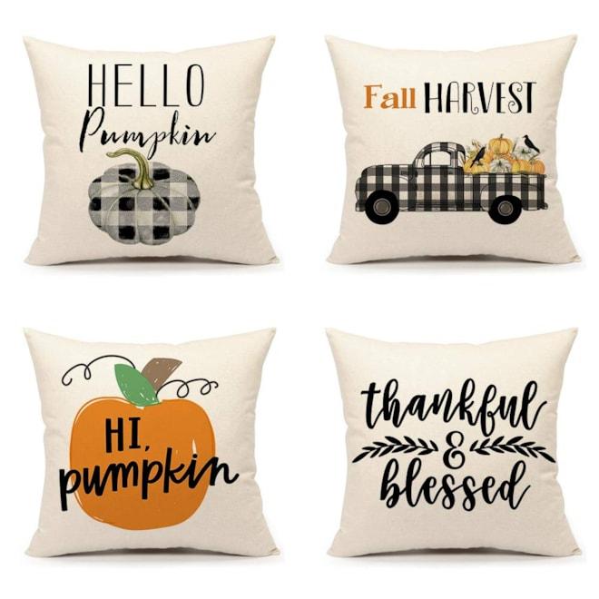 Farmhouse Thanksgiving Pillow Covers