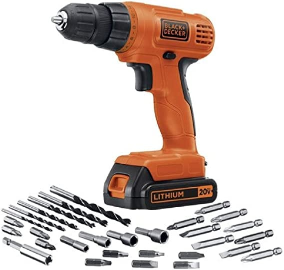Black & Decker LD120VA 20-Volt Max Lithium Drill/Driver with 30 Accessories