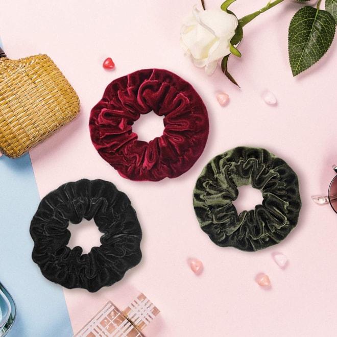 Large Size Big Velvet Scrunchies for Hair Ties  - 10