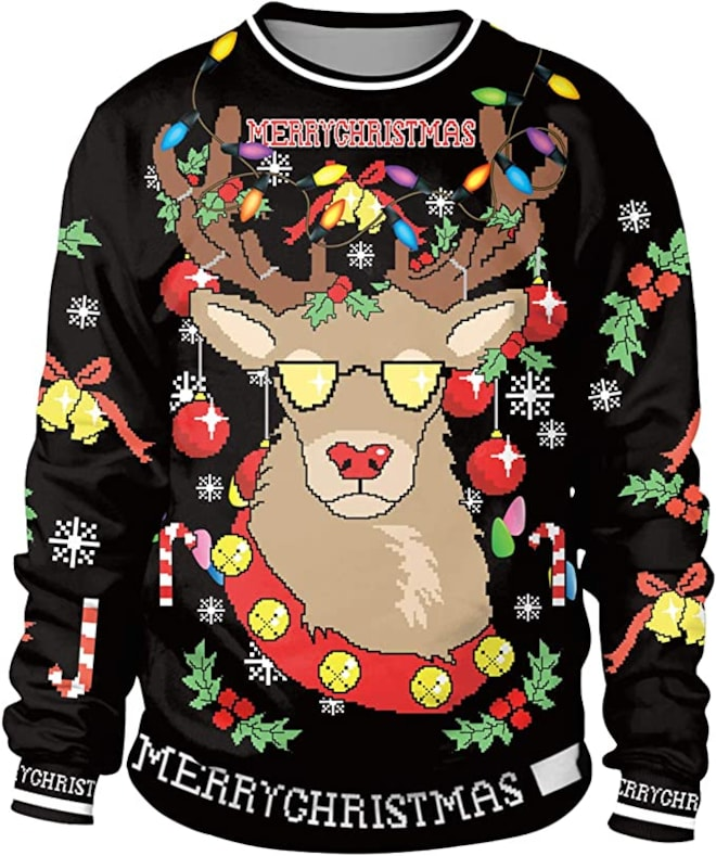 Unisex Ugly Christmas Sweater 3D Print Funny Xmas Pullover