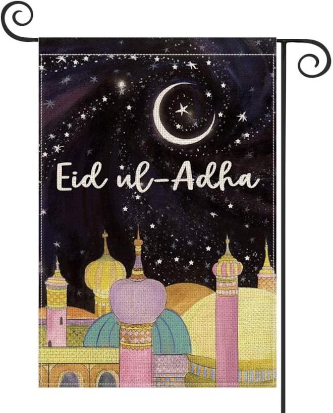 Eid Al-Adha Garden Flag Vertical Double Sided