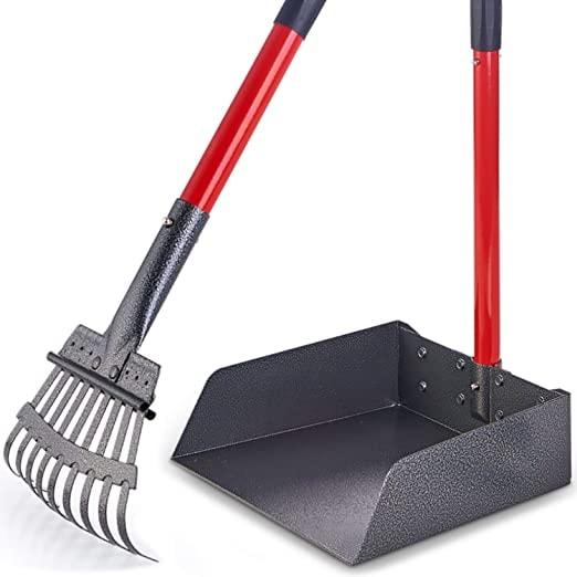 Pawler Bigger Dog Pooper Scooper for Large and Small Dogs, Easy to Use Rake and Tray Set for Pets, G