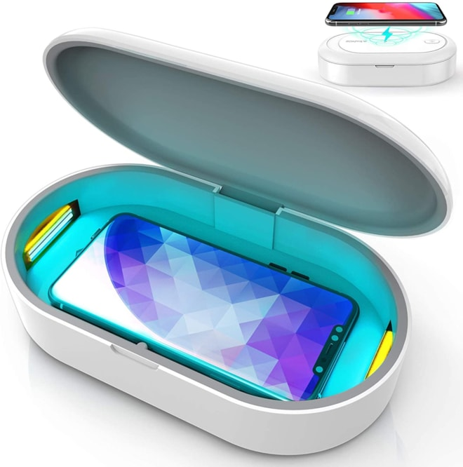 UV Lights Phone Sanitizer Box, UVC Sterilizer Box and Wireless Charging