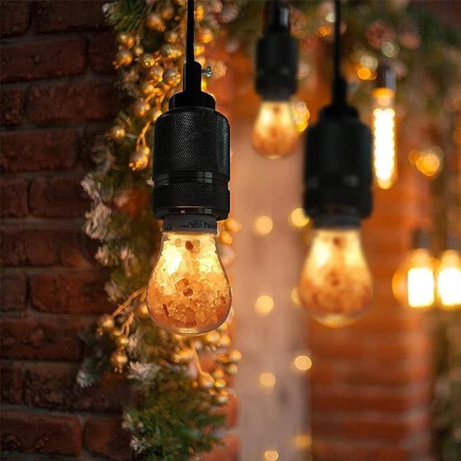 Himalayan Glow 60-Watt Equivalent LED, Dimmable Light Bulbs, A19 Salt lamp  , 2-Pack